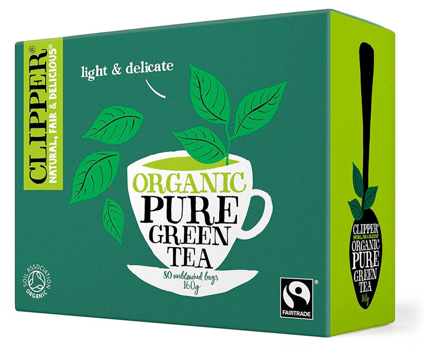 Organic Fairtrade Pure Green Tea 80 bags